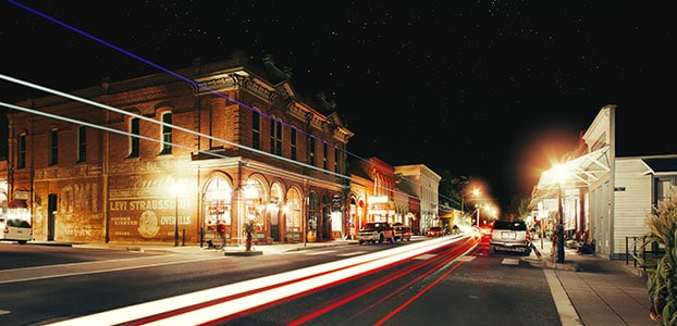 Jacksonville, Oregon Downtown at Night